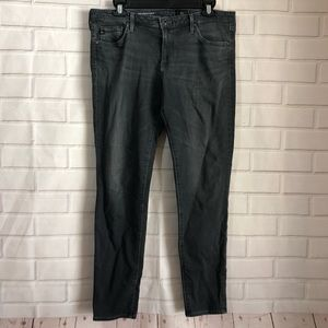 AG Adriano Goldschmied Gray Legging Ankle Jeans
